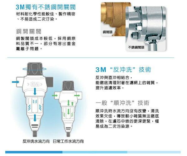 零利率+標準安裝 3M BFS1-80反洗式淨水系統 / 水塔前置過濾 / 淨水器 / 濾水器★BFS1-100升級版 ★免費到府安裝 4