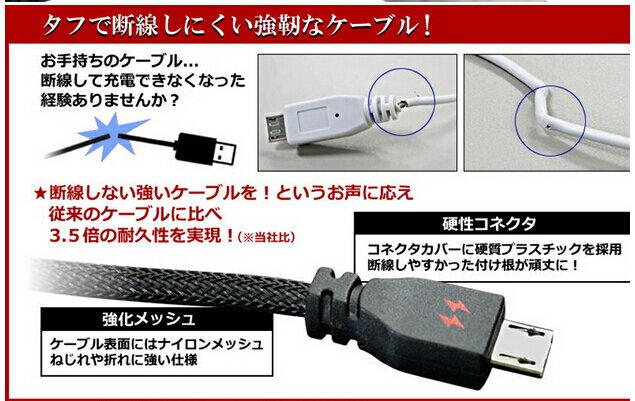 {光華成功NO.1}【日本owltech-kuboq】micro USB cable 編織強化線 1.5m 充電專用  喔!看呢來
