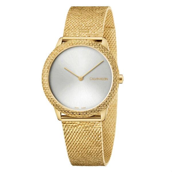 Calvinklein卡文克萊Minimal系列(K3M22V26)簡約重溫復古腕錶金35mm