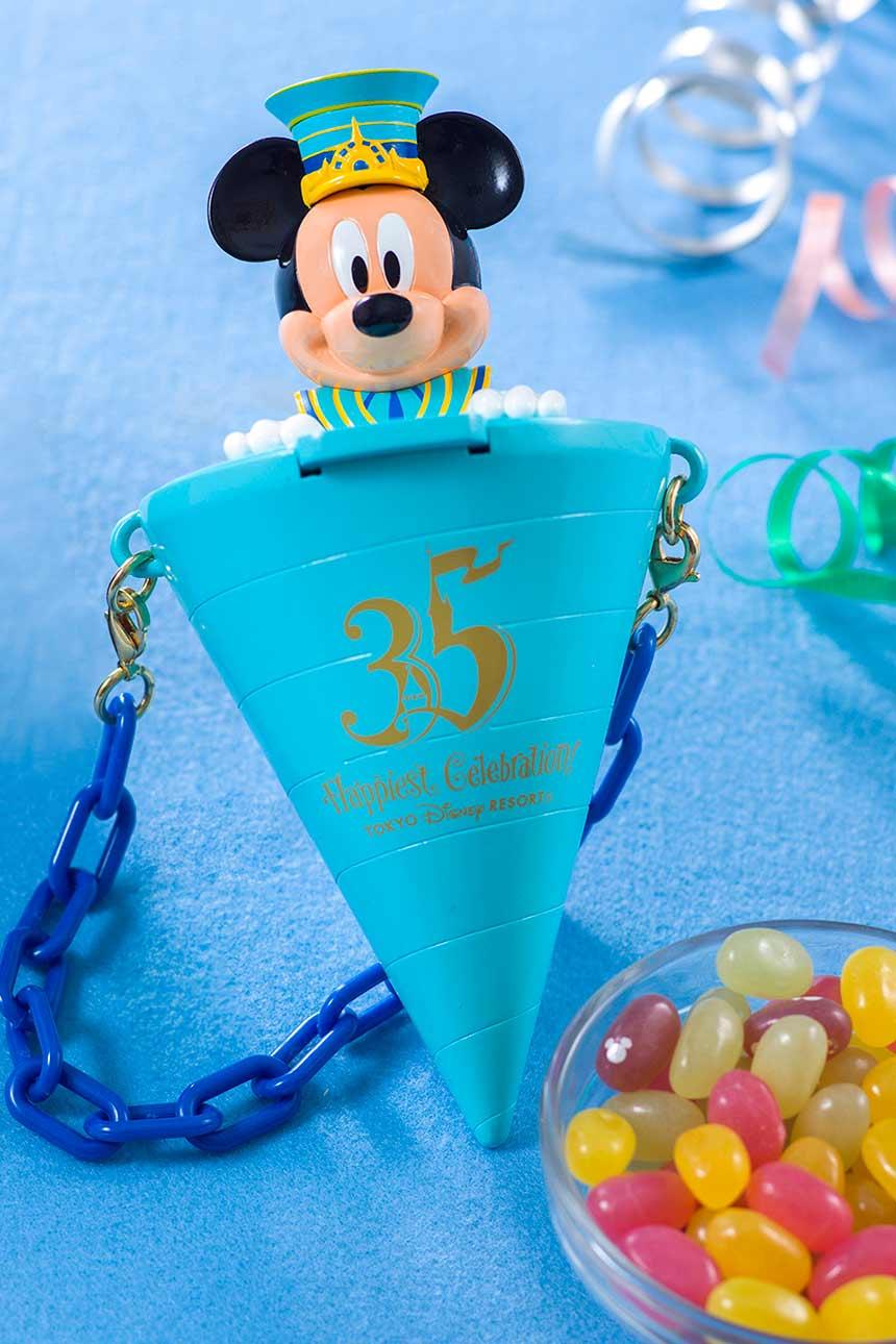 X射線【C710002】日本東京迪士尼代購-35週年米奇Mickey爆米花桶掛鍊,包包掛飾/鑰匙圈/爆米花桶/吊飾