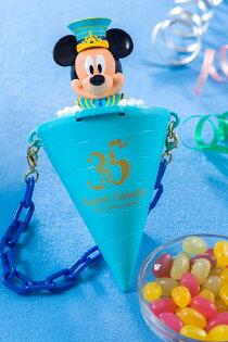 X射線【C710002】日本東京迪士尼代購-35週年米奇Mickey爆米花桶掛鍊,包包掛飾鑰匙圈爆米花桶吊飾