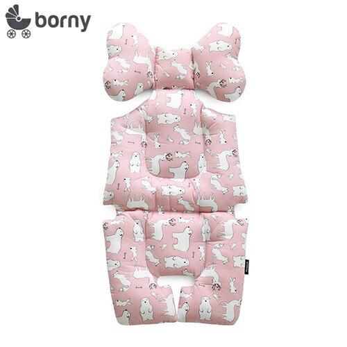 韓國【Borny】全身包覆墊(推車、汽座、搖椅適用) (粉熊鹿) - 限時優惠好康折扣