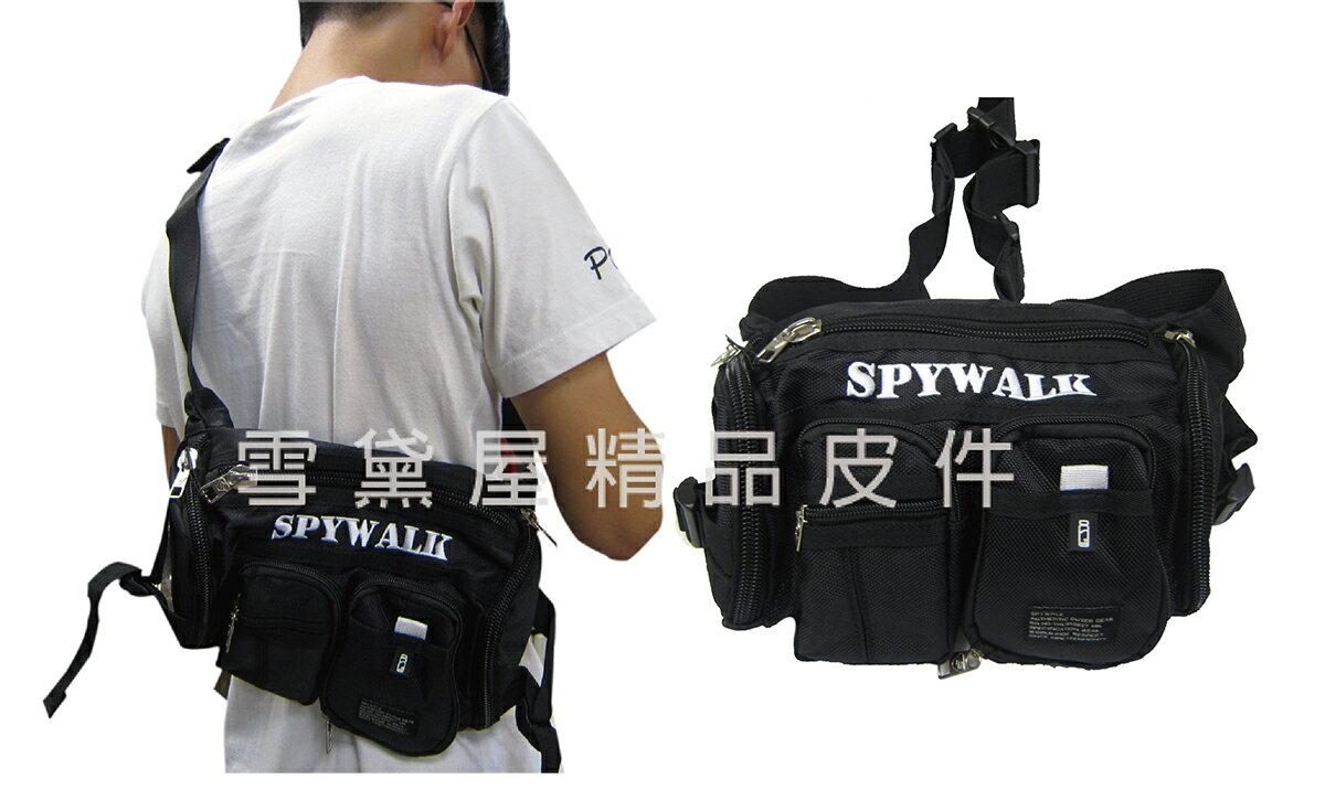 <br/><br/> ~雪黛屋~SPYWALK 臀包中容量隱藏型水瓶網袋工作胸前包防水尼龍布貼身防盜隨身品青少全齡適用014S24221<br/><br/>