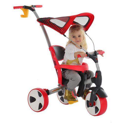 馬克文生 四合一多功能三輪車-(紅色)可變推車、滑步車、腳踏車、自行車★衛立兒生活館★