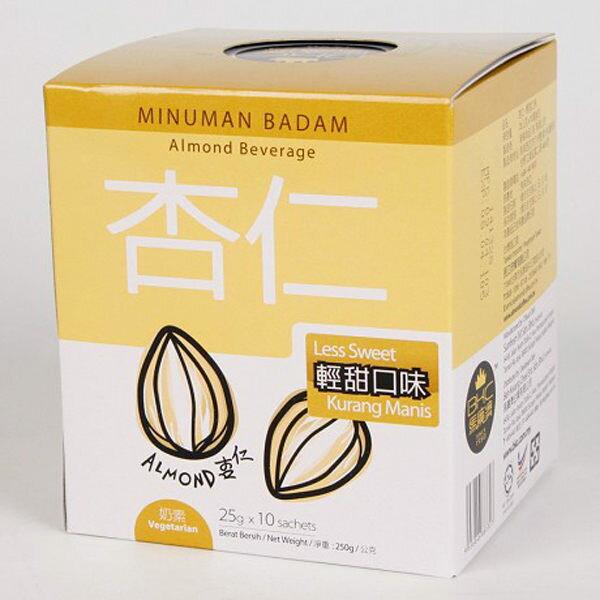 BKC馬廣濟 杏仁飲(輕甜口味) 獨家配方 麥片纖維 口碑好牌子老 25gX10包/盒