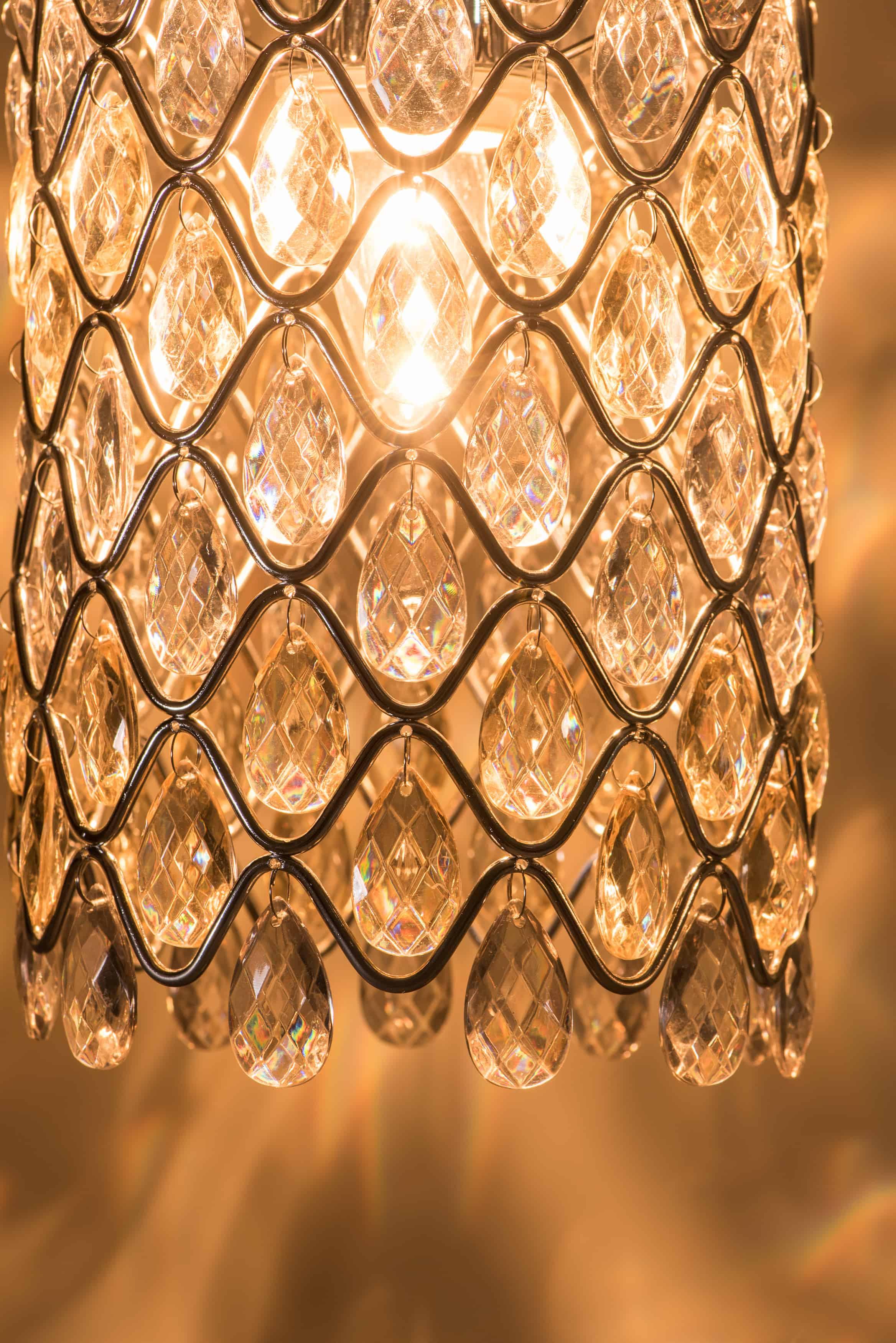 鍍鉻波浪紋壓克力珠吊燈-BNL00051 3