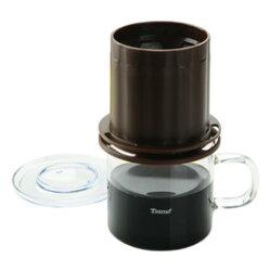 金時代書香咖啡 Tiamo UFO-180圓錐濾器獨享杯-咖啡色320cc 免用濾紙 HG2323