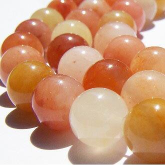 [紅黃玉]天然無優化 8mm圓形珠 diy飾品散珠 1