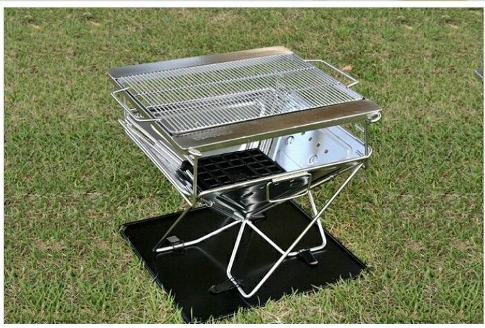 【露營趣】中和 TNR-202 不鏽鋼焚火台L號 烤肉架 荷蘭鍋爐 鑄鐵炭床 304烤網 類RV-ST360 可參考