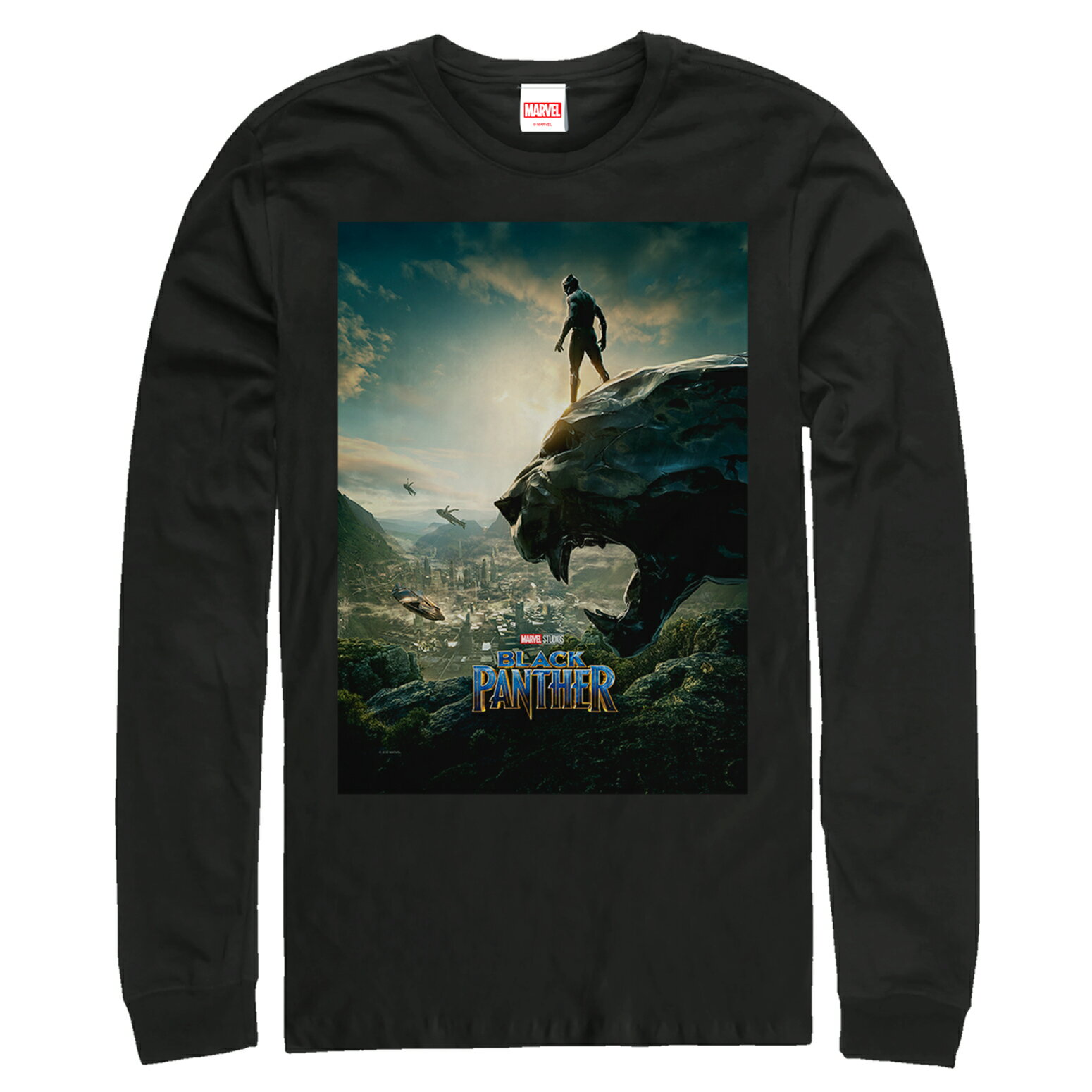 39184249a1e Marvel Black Panther 2018 Epic View Mens Graphic Long Sleeve Shirt 0