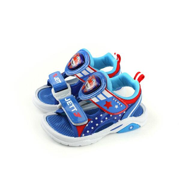 SUPERWINGS涼鞋電燈鞋魔鬼氈藍色中童S83810-550no941