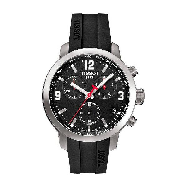 TISSOT天梭T0554171705700膠帶PRC200石英計時腕錶/黑面42mm