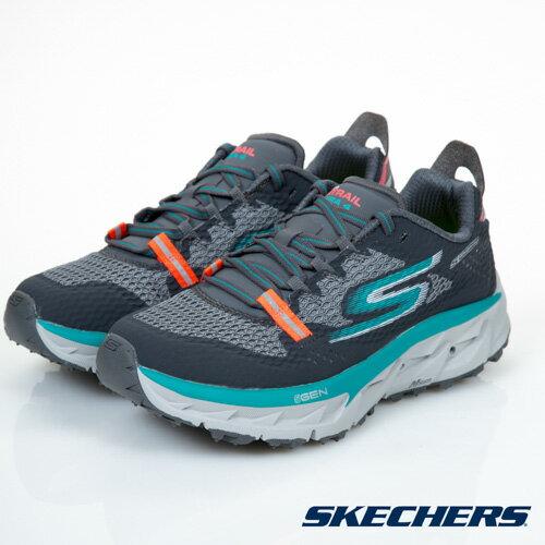 SKECHERSGOTrailUltra4女鞋慢跑避震緩衝越野回彈黑藍灰【運動世界】14111CCTL