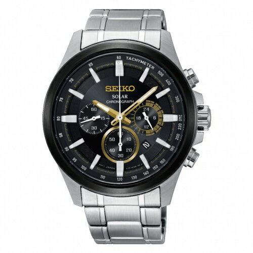 SEIKOCriteria時時刻刻三眼太陽能時尚腕錶V175-0ER0DSSC679P1