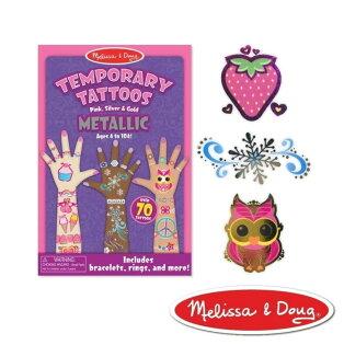 NANABABY:【美國瑪莉莎Melissa&Doug】兒童紋身貼紙簿金屬色#MD2948
