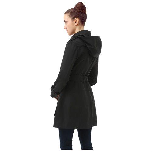 "BGSD Women's ""Leah"" Hooded Mid Length Trench Coat 2"
