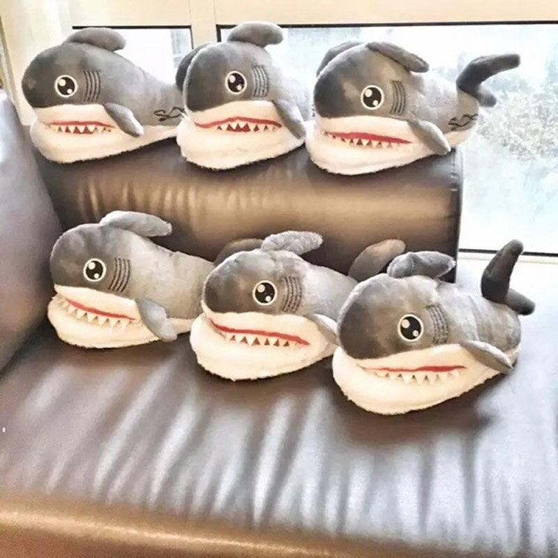 【鯊魚室內拖鞋】可愛 搞怪 保暖 造型 居家鞋 禮物 5217SHOPPING
