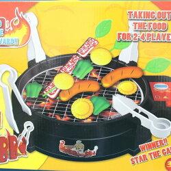 電動烤肉組 BBQ競技 FDE905 烤肉遊戲組 (附電池)/一盒入{促400}烤肉玩具 扮家家酒烤肉爐 仿真烤肉玩具 燒烤遊戲~CF101638