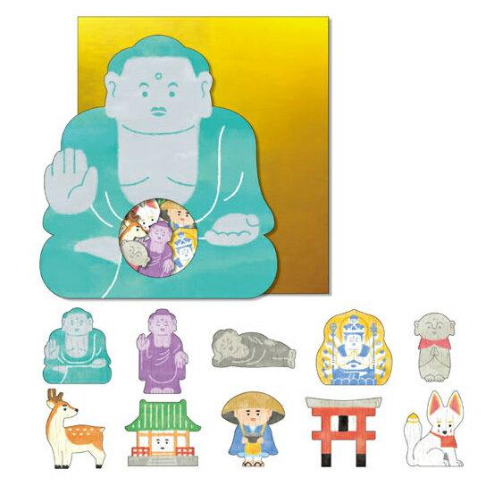 *小徑文化*日本進口 Mind Wave Nippon seal 貼紙包 - 大佛 ( 77852 )