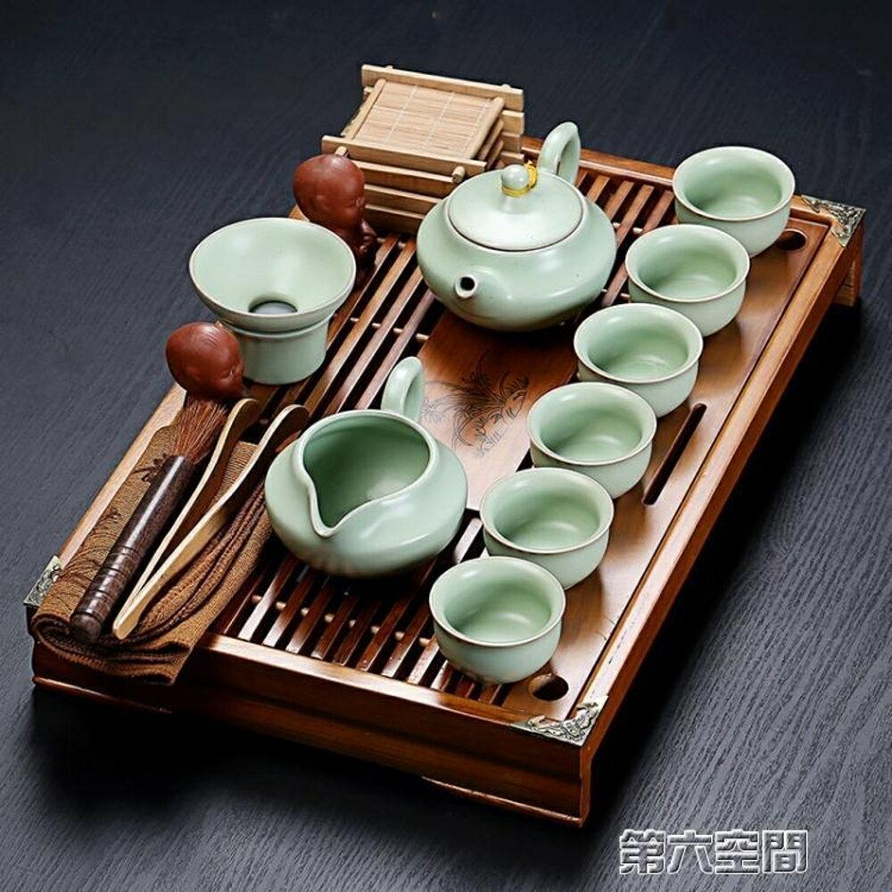 茶具 紫砂陶瓷功夫套裝家用茶杯簡約辦公實木小茶盤抽屜式茶台整套 MKS 第六空間 聖誕節禮物