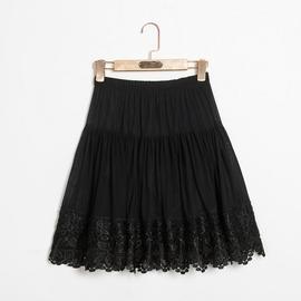1號色XL(1尺9-2尺1)中老年半身裙中年媽媽裙松緊腰短裙舞蹈裙廣場舞裙子女裝夏季特價