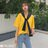 F-DNA★刺繡微笑可拆兩件式披肩圓領短袖上衣T恤(2色-M-2XL)【ET12690】 6