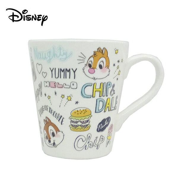 漢堡款【日本正版】奇奇蒂蒂 陶瓷 馬克杯 240ml 咖啡杯 迪士尼 Disney - 479318