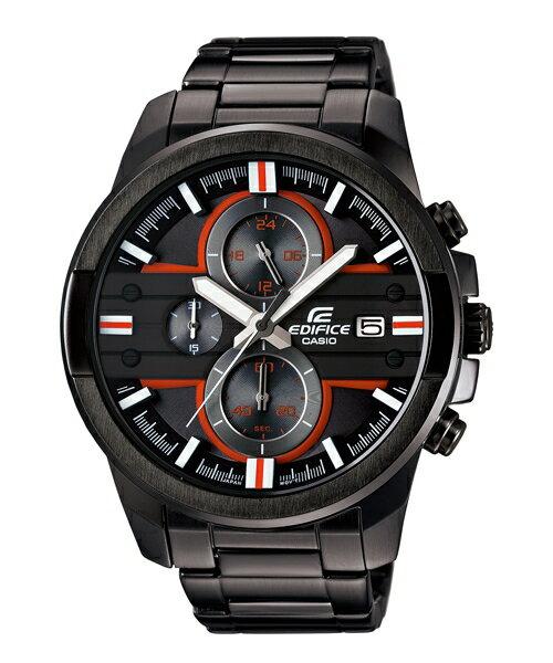 CASIO EDIFICE EFR-543BK-1A2立體三環計時腕錶/黑面46.6mm