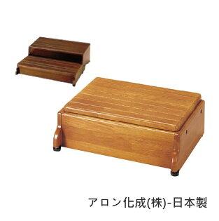 [預購]玄關椅-高度調整型老人用品行動不便者室內橡木日本製[R0005]