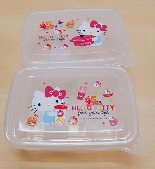 大賀屋 台灣製 正版 HELLO KITTY 便當盒 保鮮盒 餐盒 收納盒 小盒子 午餐盒 凱蒂貓 T00120513