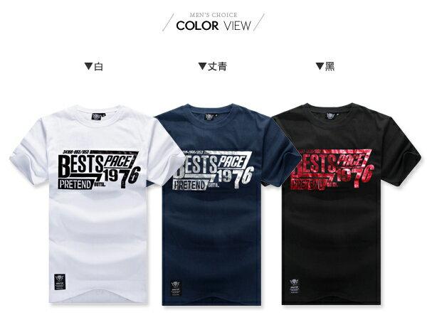 ☆BOY-2☆【KK3472】情侶短袖T恤燙金印花字母1976短T 1