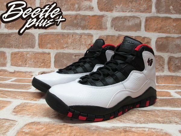 BEETLE PLUS NIKE AIR JORDAN 10 RETRO BG 白黑 黑紅 芝加哥 公牛 喬丹 45 女鞋 310806-102 1