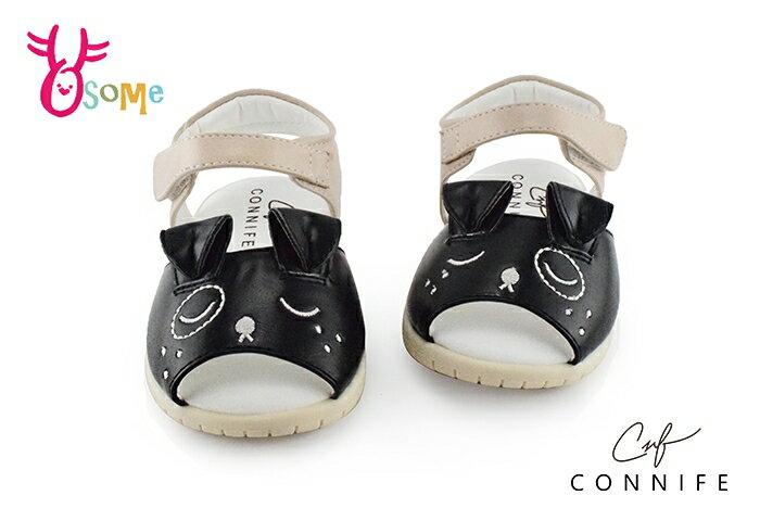 CONNIFE小童愛睏小狗氣墊涼鞋 嗶嗶鞋H6031#黑色◆OSOME奧森鞋業