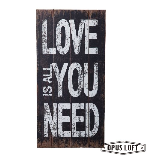 LOVE IS ALL YOU NEED 仿舊 文字裝飾 版畫