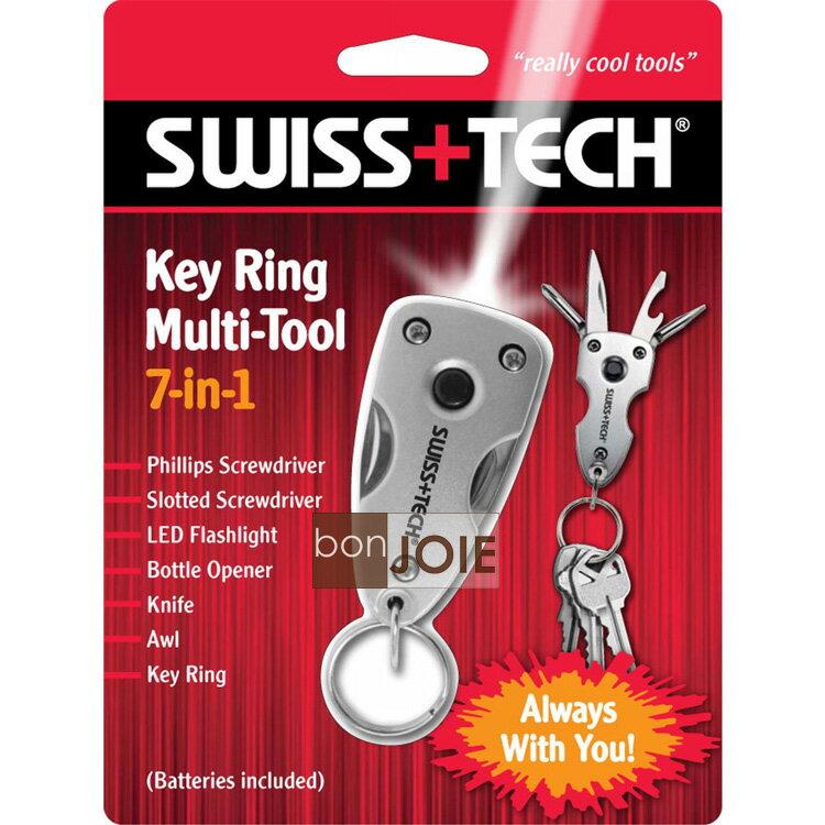 ::bonJOIE:: 美國進口 Swiss+Tech 7 合 1 Key Ring Multi-tool 隨身迷你工具組 (含 LED 燈) 7-in-1 鑰匙圈 Swiss Tech Multitool
