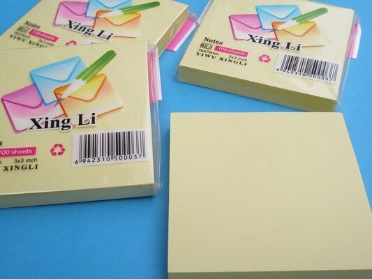 方便貼 3x3便利貼 76mm x 76mm^(黃色^) 一包12本入^~定15^~^~智