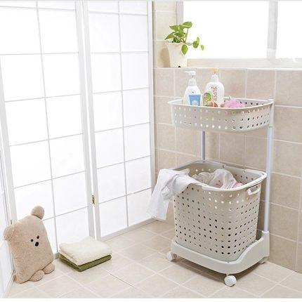 雙層附輪洗衣收納籃(現貨+預購)
