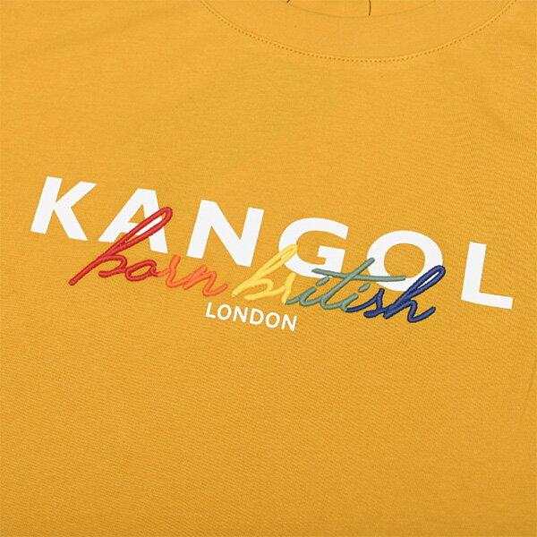 【滿額領券折$150】KANGOL 英國袋鼠 短袖 短T 草寫LOGO 彩紅字 黃色 男女 【6125100362】