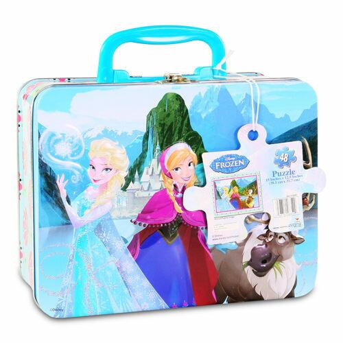 【Disney 品牌授權系列】冰雪奇緣手提小鐵盒拼圖 CD28849
