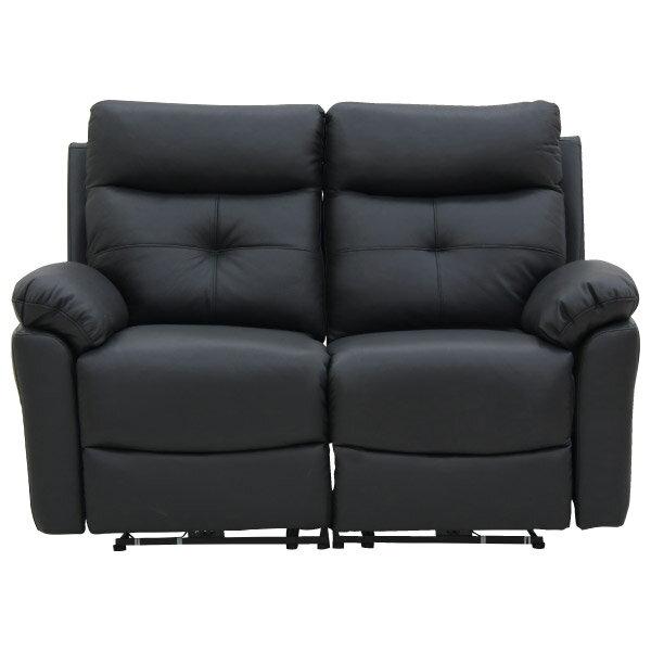 ◎半皮2人用電動可躺式沙發 MEGA BK NITORI宜得利家居