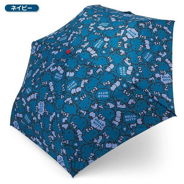 【真愛日本】16032500016 造型頭折疊傘-紅臉藍 三麗鷗 Hello Kitty 凱蒂貓 折疊傘 晴雨傘 雨具