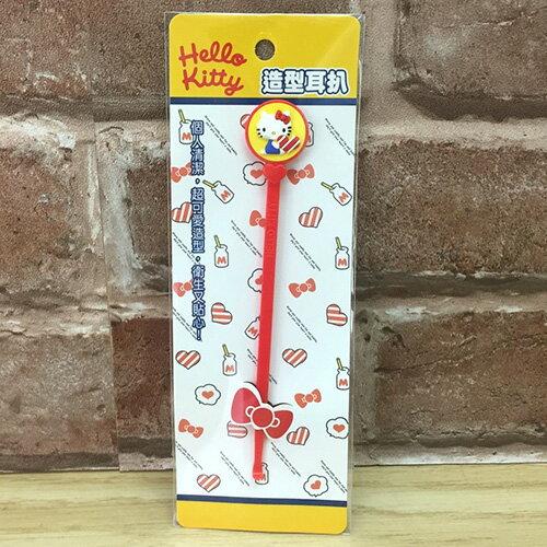 【真愛日本】17051100014 造型耳扒-KT紅 三麗鷗 kitty 凱蒂貓 挖耳棒 耳扒子 掏耳棒 生活用品