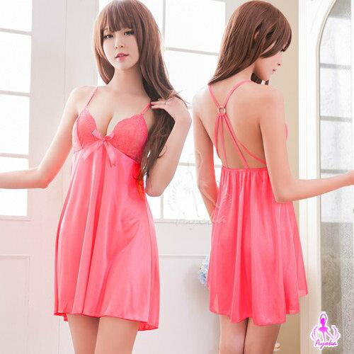 愛的蔓延 桃粉色性感美背柔緞睡衣 甜美睡衣 NA16020092 - 限時優惠好康折扣