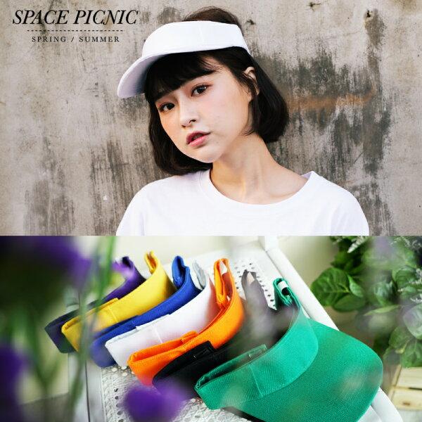 防曬帽SpacePicnic|預購.素面糖果色防曬帽【C18032000】
