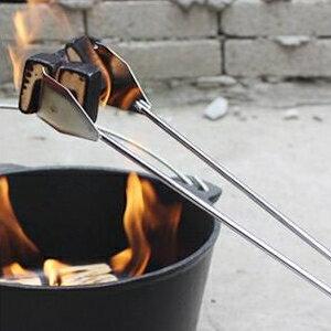 美麗大街【GT107041833】加長戶外碳夾木炭夾麵包烤肉燒烤夾