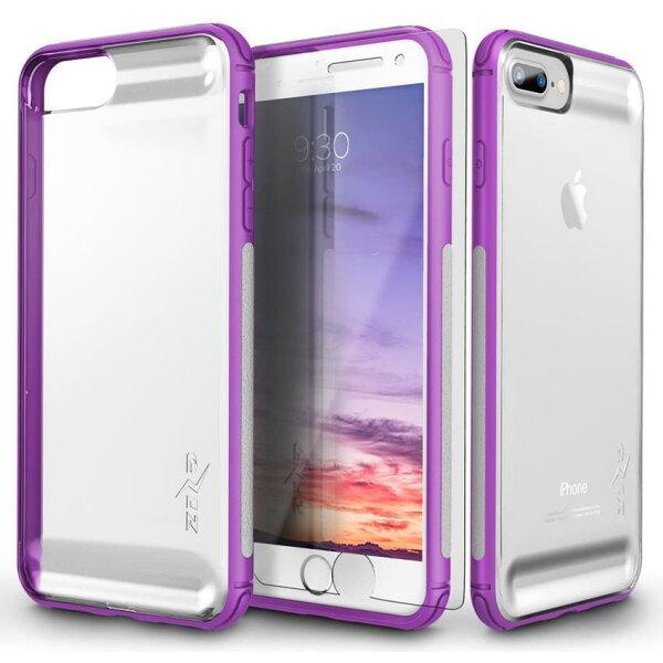 貝殼嚴選:【貝殼】ZizoBoltFLUX系列iPhone8PlusiPhone7Plus手機殼防摔殼(贈非滿版玻璃貼)-紫色