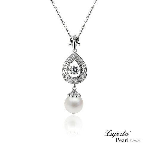 大東山珠寶 星芒 日本AKOYA天然海水珍珠純銀晶鑽項鍊 0