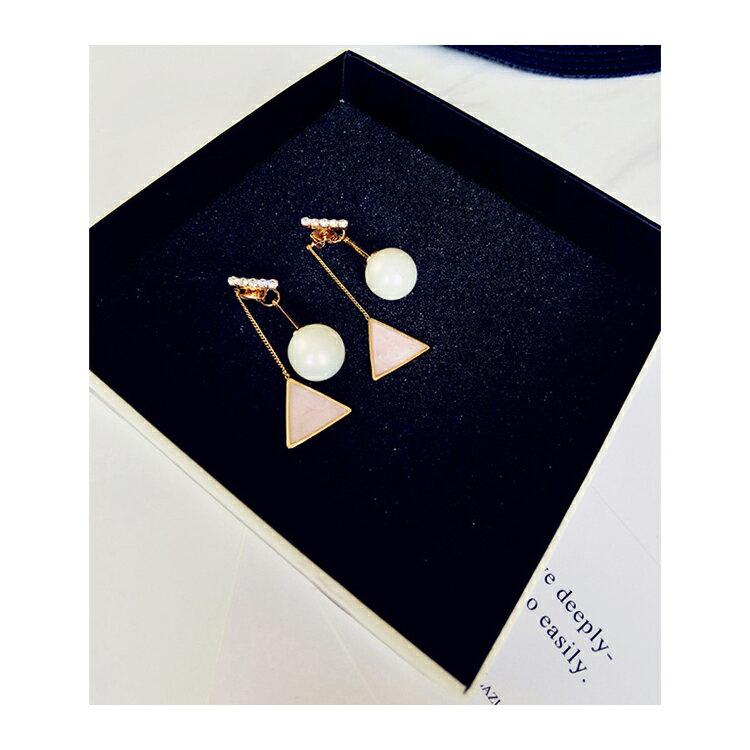 耳環 幾何 珠珠 後掛式 鑲鑽 耳環【DD1606077】 BOBI  04 / 20 8