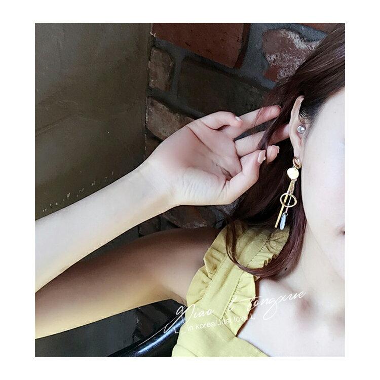 耳環 幾何 圓形 金屬 不對稱 垂墜 耳環【DD1612133】 BOBI  04 / 20 1