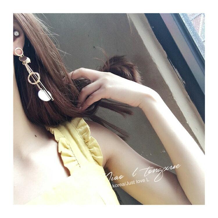 耳環 幾何 圓形 金屬 不對稱 垂墜 耳環【DD1612133】 BOBI  04 / 20 3